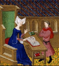 Christine de Pizan_and_her_son -50